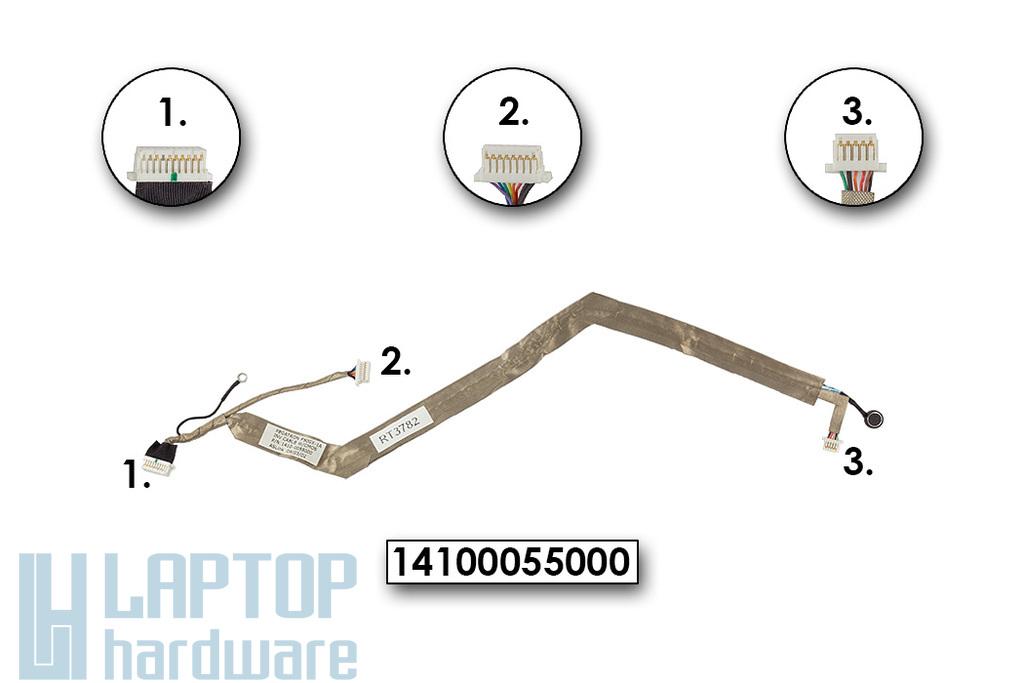 Asus F50 laptophoz használt webkamera, mikrofon, inverter kábel, 1410-0055000