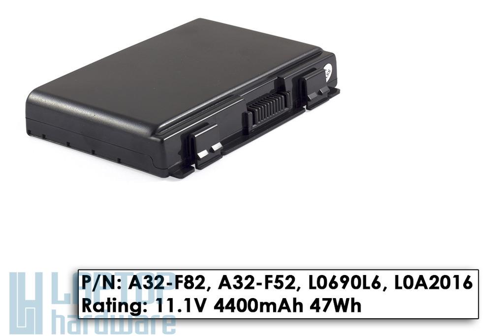 Asus F52, K40, K50, A32-F82 gyári új 6 cellás laptop akkumulátor