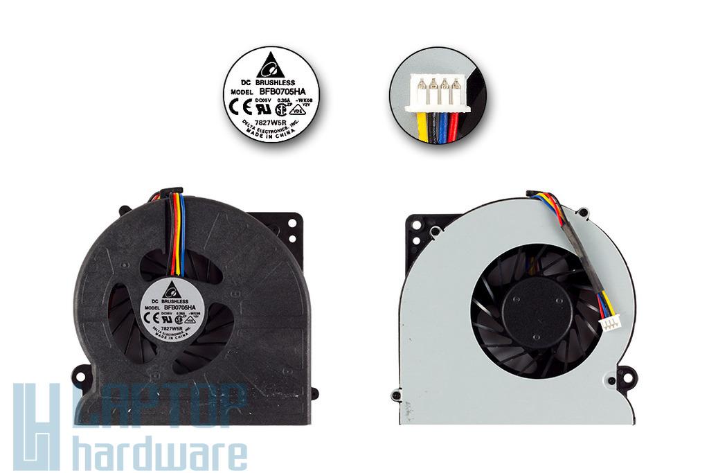 Asus F5SL, F5SR, F5V használt laptop hűtő ventilátor, (BFB0705HA)