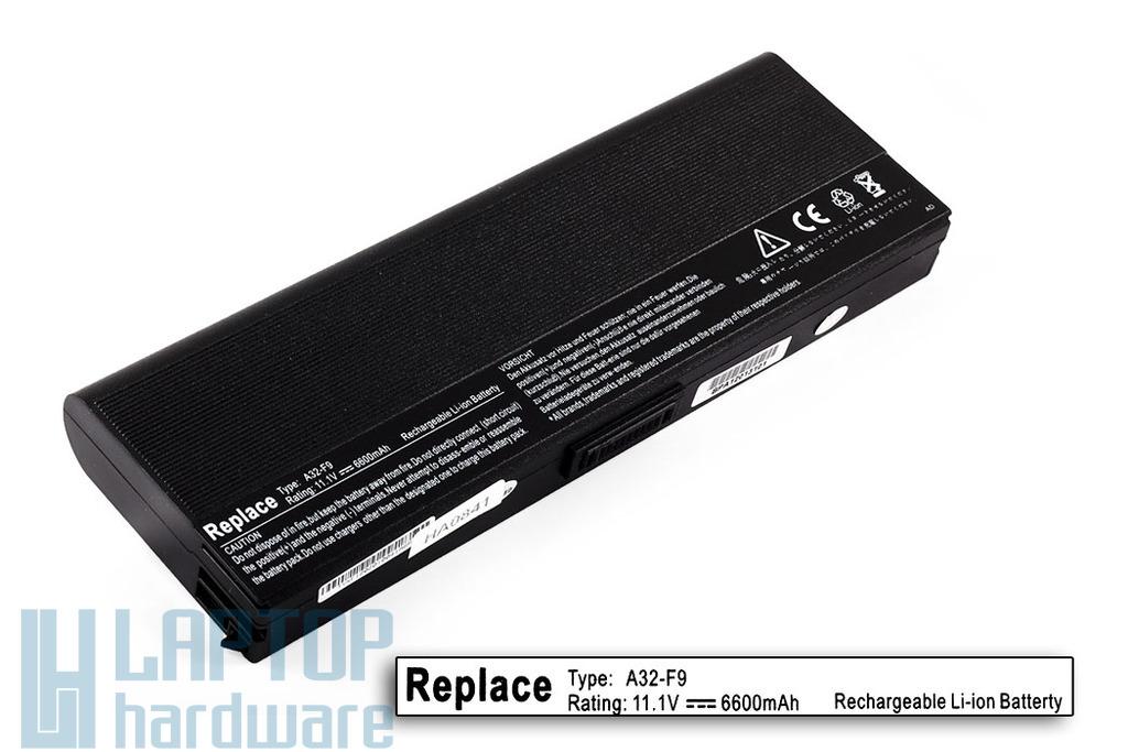 Asus F6, F9 helyettesítő új 9 cellás laptop akku/akkumulátor (A32-F9)