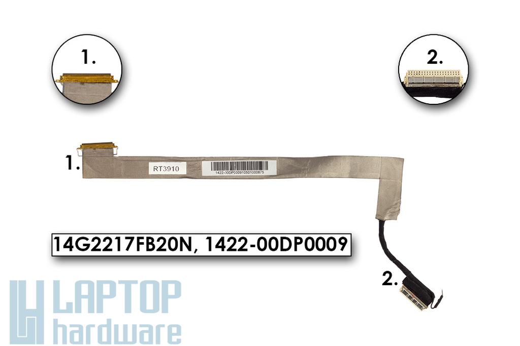 Asus F70SL, N70SV laptophoz használt LCD kábel, 14G2217FB20N