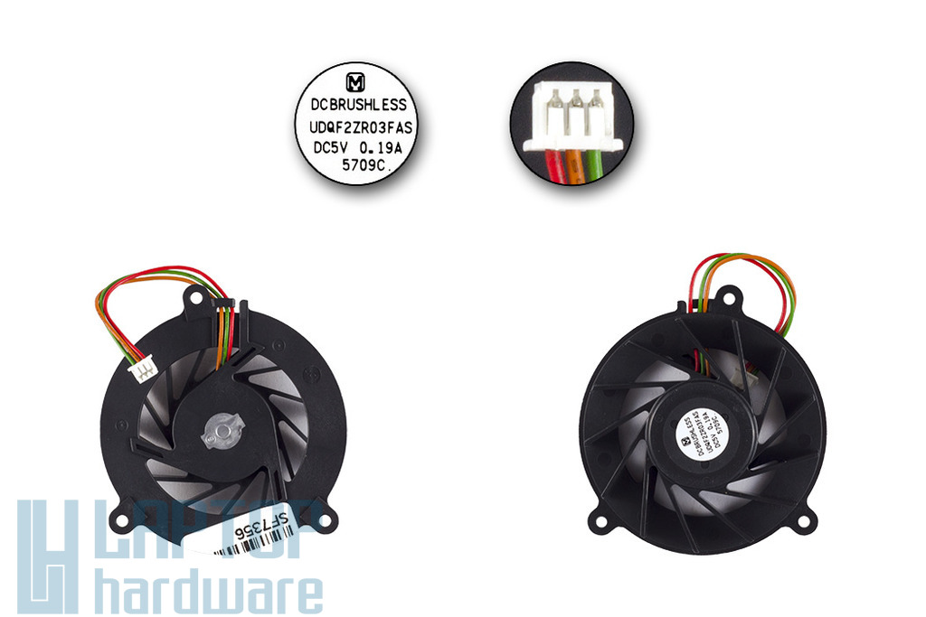 Asus F8P, F8V, F80Q, F80L laptophoz gyári új 3-pines hűtő ventilátor (UDQF2ZR03FAS)