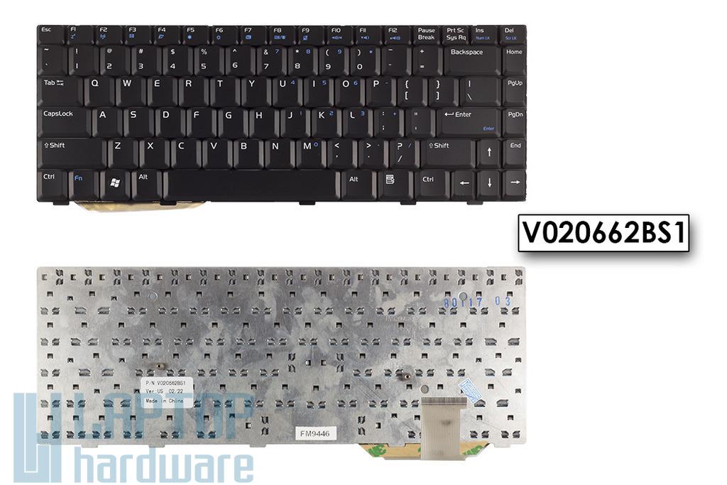 Asus F8S, F8T, F8V US angol laptop billentyűzet, V020662BS1
