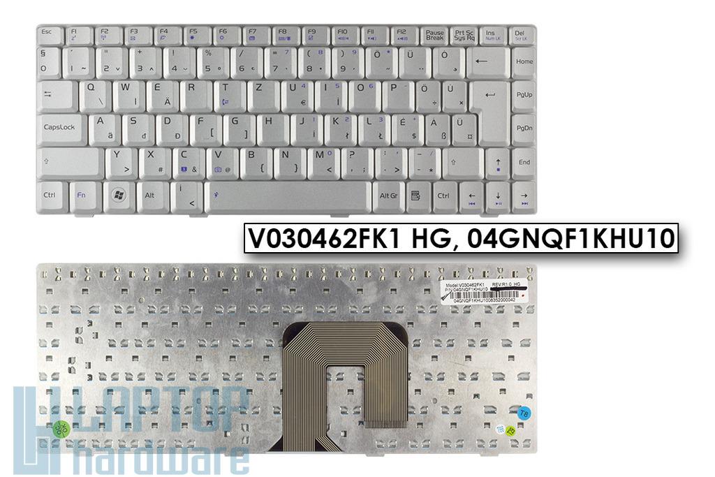 Asus F9, F6, U3, U6 gyári új magyar ezüst laptop billentyűzet (04GNQF1KHU10)