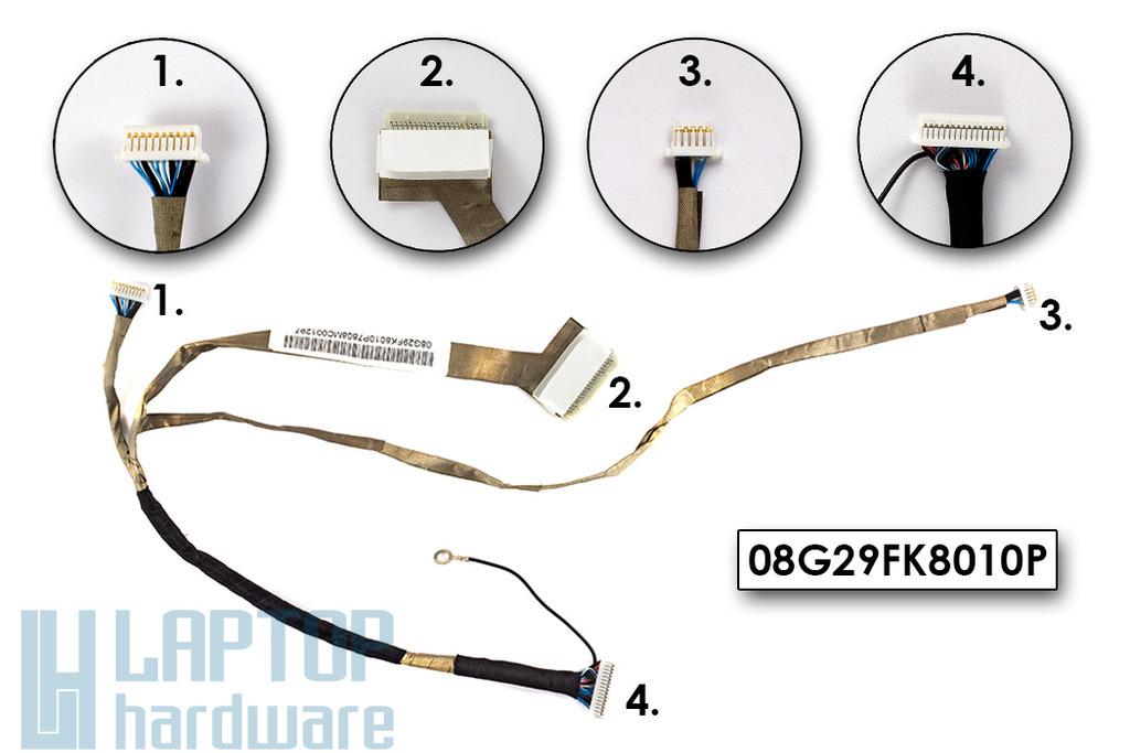 Asus F9DC laptophoz gyári új LCD kábel, 08G29FK8010P