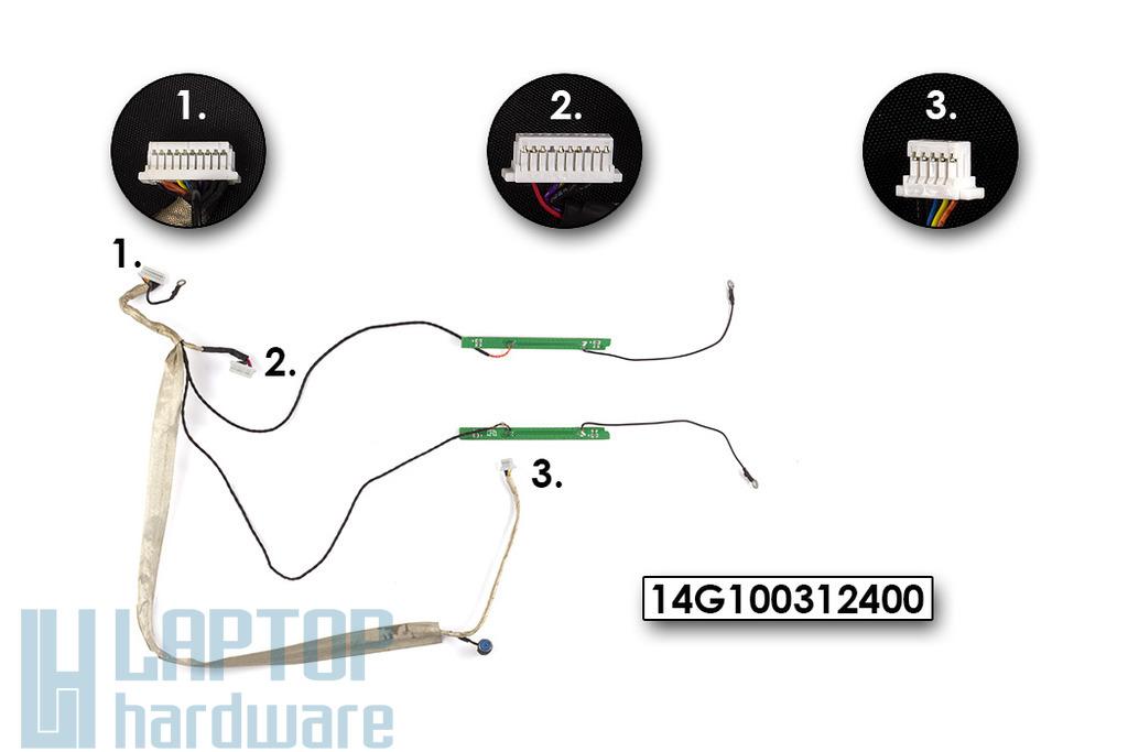 Asus G2P, G2S laptophoz használt Inverter kábel mikrofonnal (14G100312400)