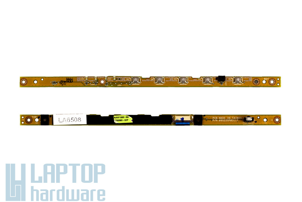 Asus G2S laptophoz használt előlapi gyors gomb és INFRA panel szalagkábellel (08G22GP03117)