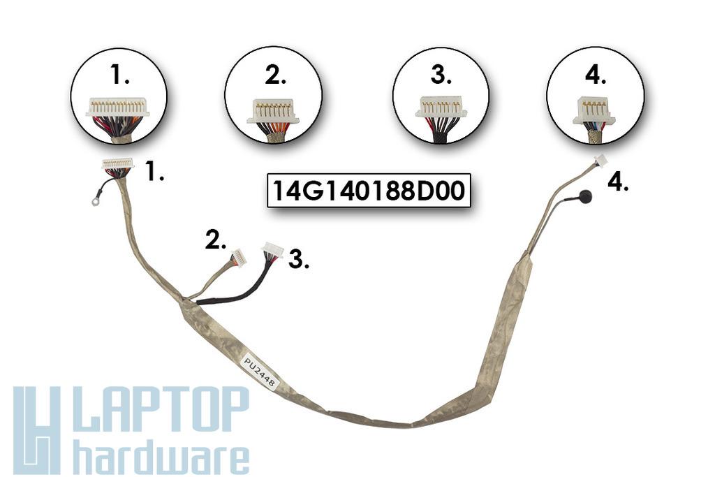 Asus G70S laptophoz gyári új LCD inverter kábel, 14G140188D00