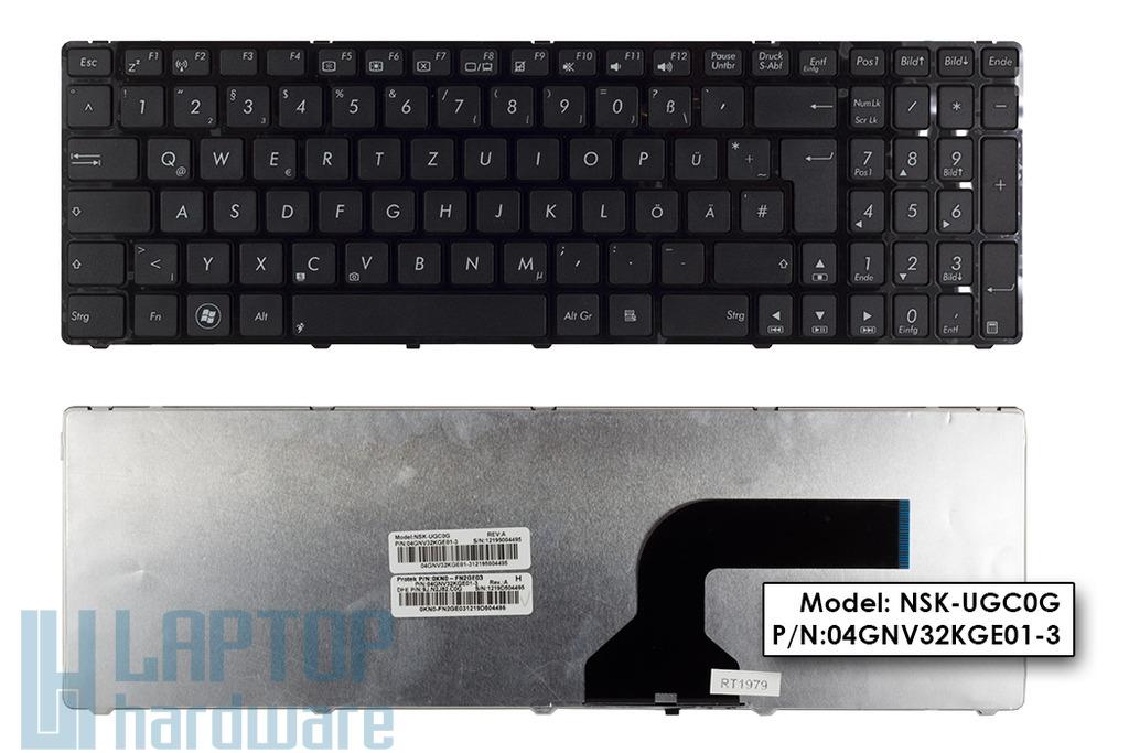 Asus G73, K52, K72 gyári új német laptop billentyűzet (04GNV32KGE01-3)