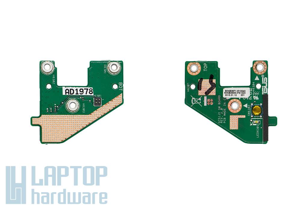 Asus G751JT, G751JY gyári új laptop bekapcsoló panel (90NB06F1-R10040)