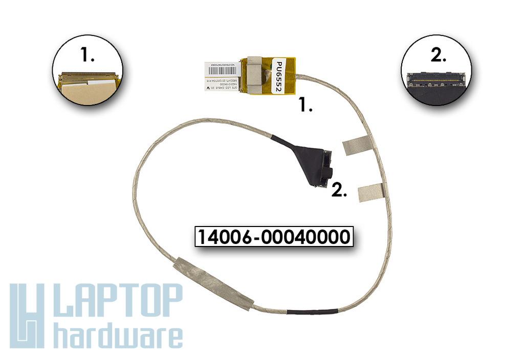 Asus G75VW, G75VX laptophoz gyári új LCD kijelző kábel, 14006-00040000