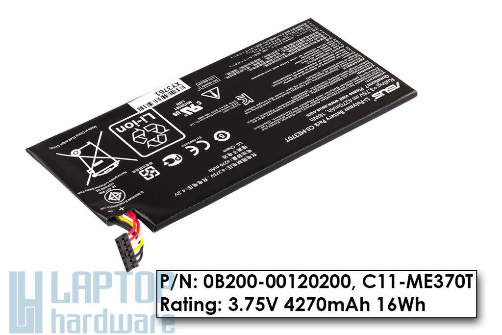 Asus Google Nexus ME370T (Nexus 7 2012) gyári új tablet akku/akkumulátor (C11-ME370T, 0B200-00120200)