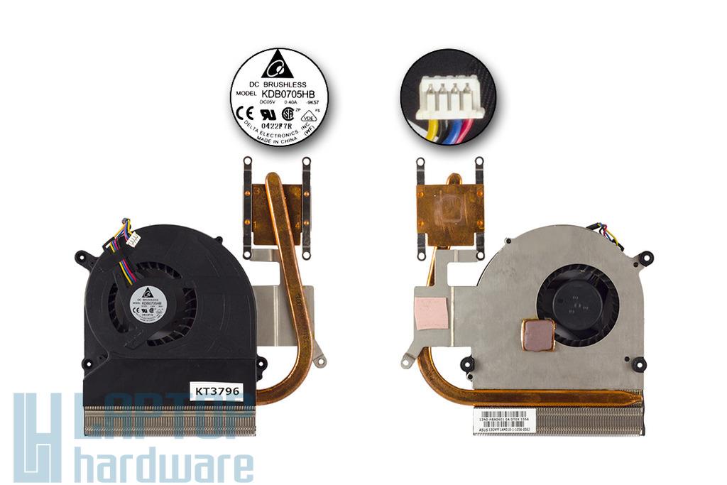 Asus K40ID, K40IE, K50ID, K50IE laptophoz használt komplett hűtőegység (13GNYF1AM010-1)