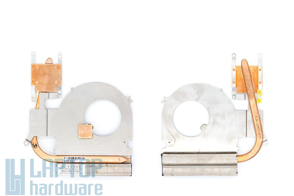 Asus K40ID, K40IE, K50ID, K50IE laptophoz használt hűtőborda (13GNYF1AM010-1)