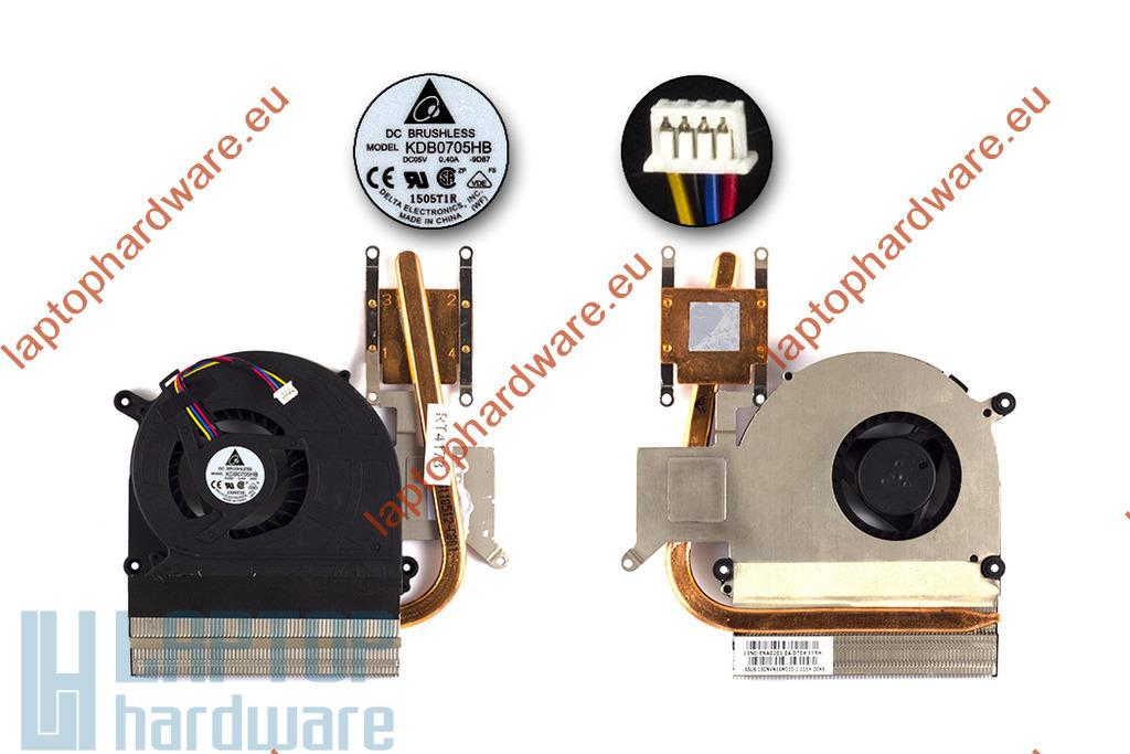 Asus K40IN, K50IN, K60IN, K51AC használt komplett laptop hűtőegység (13GNVY1AM010-1)