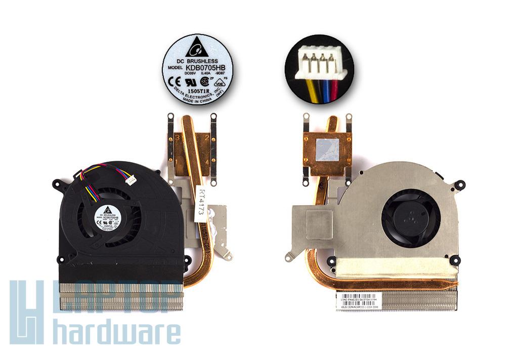 Asus K40IN, K50IN, K60IN laptophoz gyári új komplett hűtőegység (13GNVN1AM010-1)