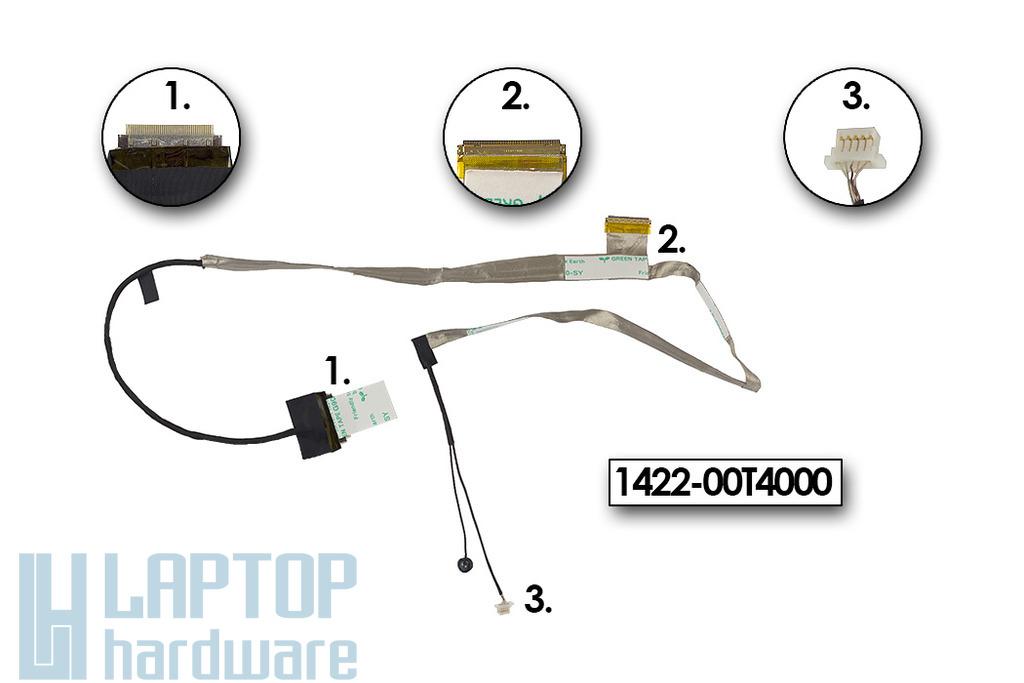 Asus K42JE, K42JK, K42JV gyári új LCD kijelző kábel, 1422-00T4000