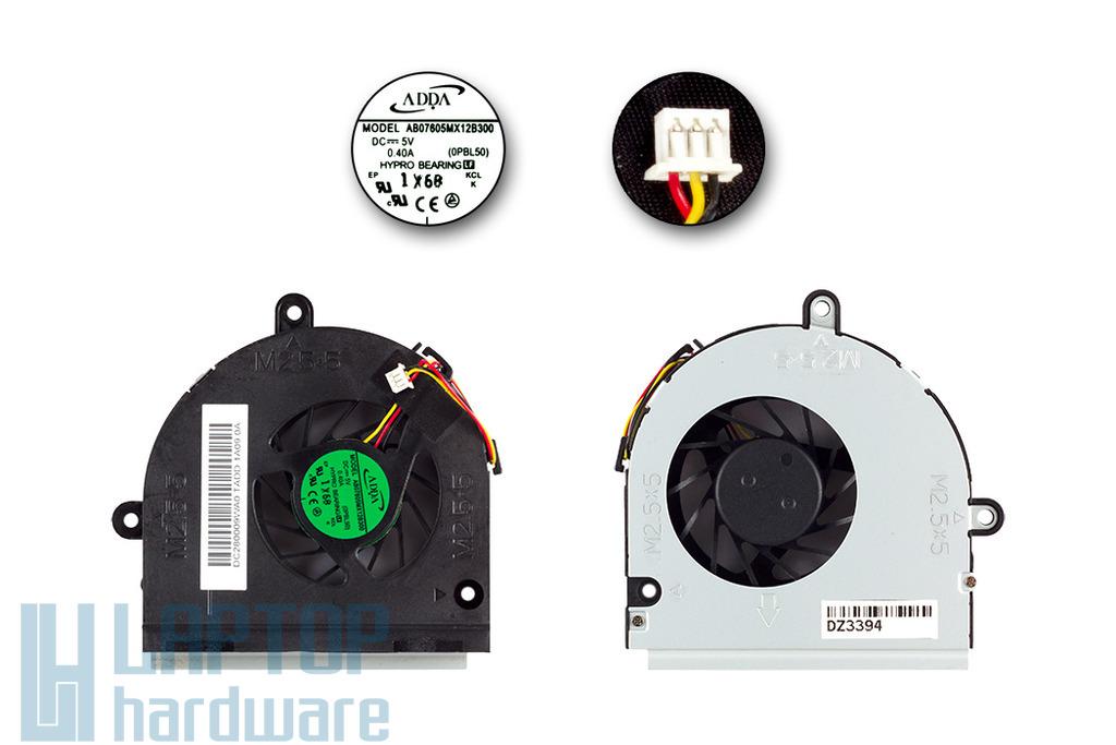 ASUS K43, K53, X53 használt laptop hűtő ventilátor (DC280009WA0)