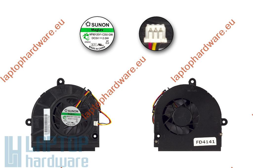 ASUS K43, K53, X53 gyári új laptop hűtő ventilátor (DC280009WS0)