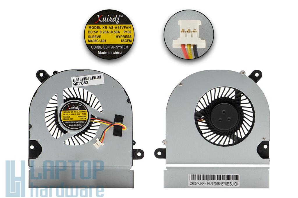 Asus K45A, K45V gyári új laptop hűtő ventilátor (slim/vékony) (13GN5310P020-1)