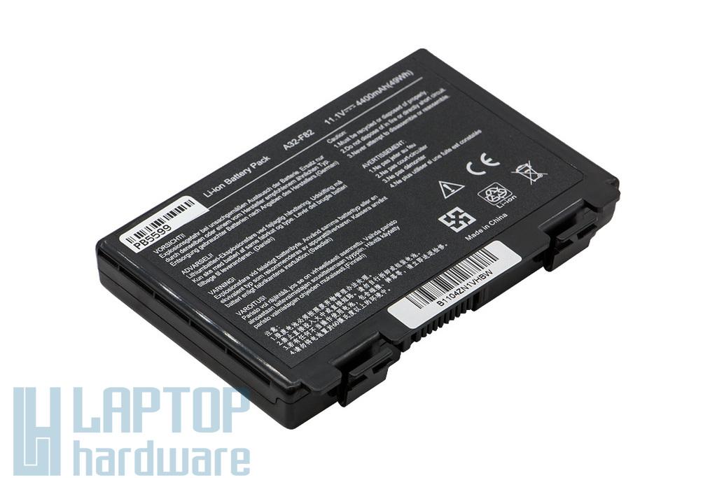 Asus K50 4400mAh 6 cellás helyettesítő új laptop akku/akkumulátor (A32-F82, A32-F52)