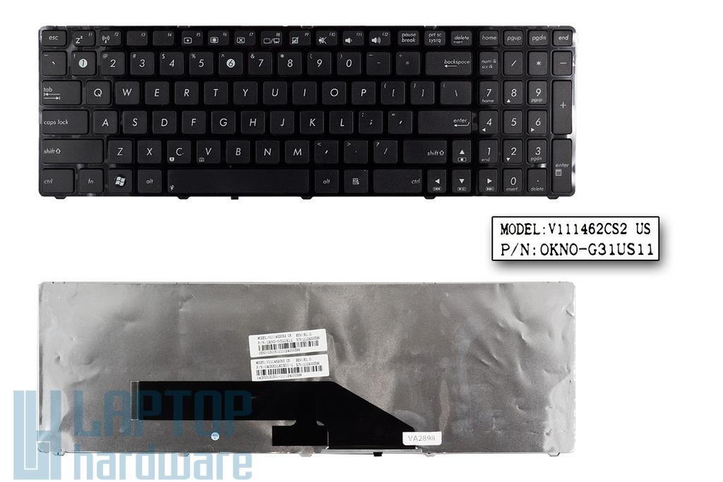 Asus K50, K51, K60, K61, K70 gyári új US angol laptop billentyűzet (V111462CS2)
