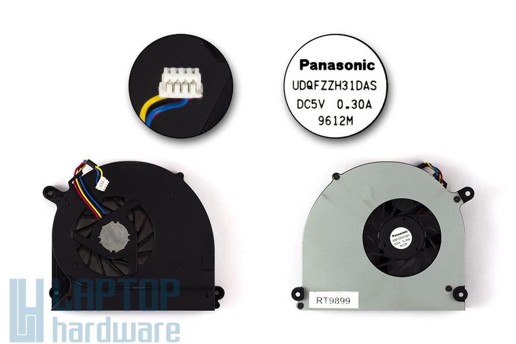 Asus K50, K60, P50 használt laptop hűtő ventilátor (Panasonic UDQFZZH31DAS)