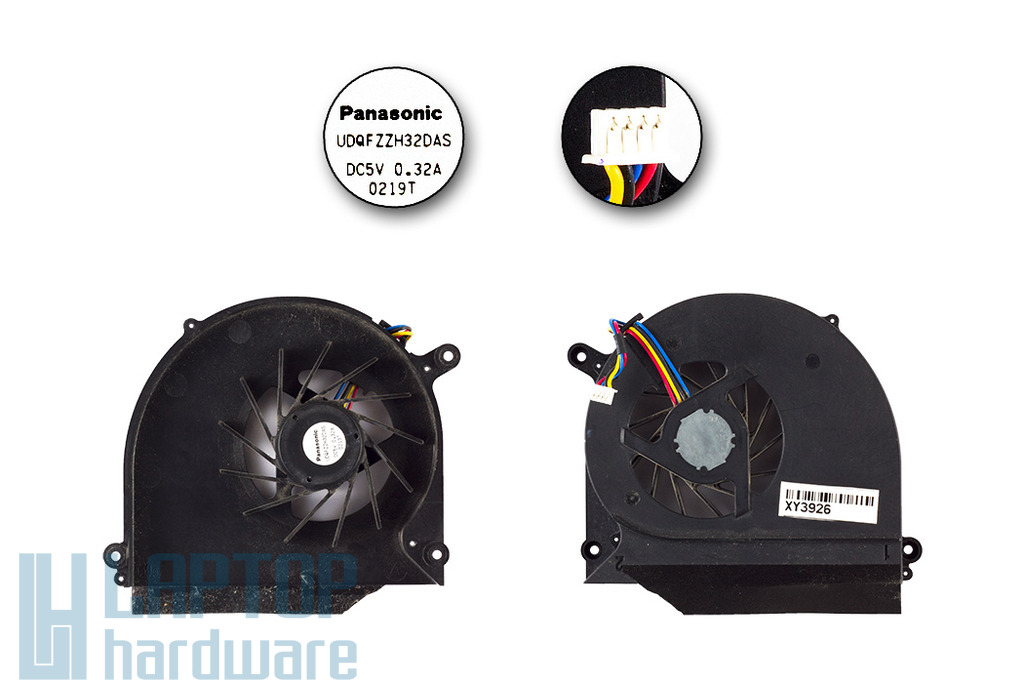 Asus K50, K60, P50 használt laptop hűtő ventilátor (UDQFZZH32DAS)
