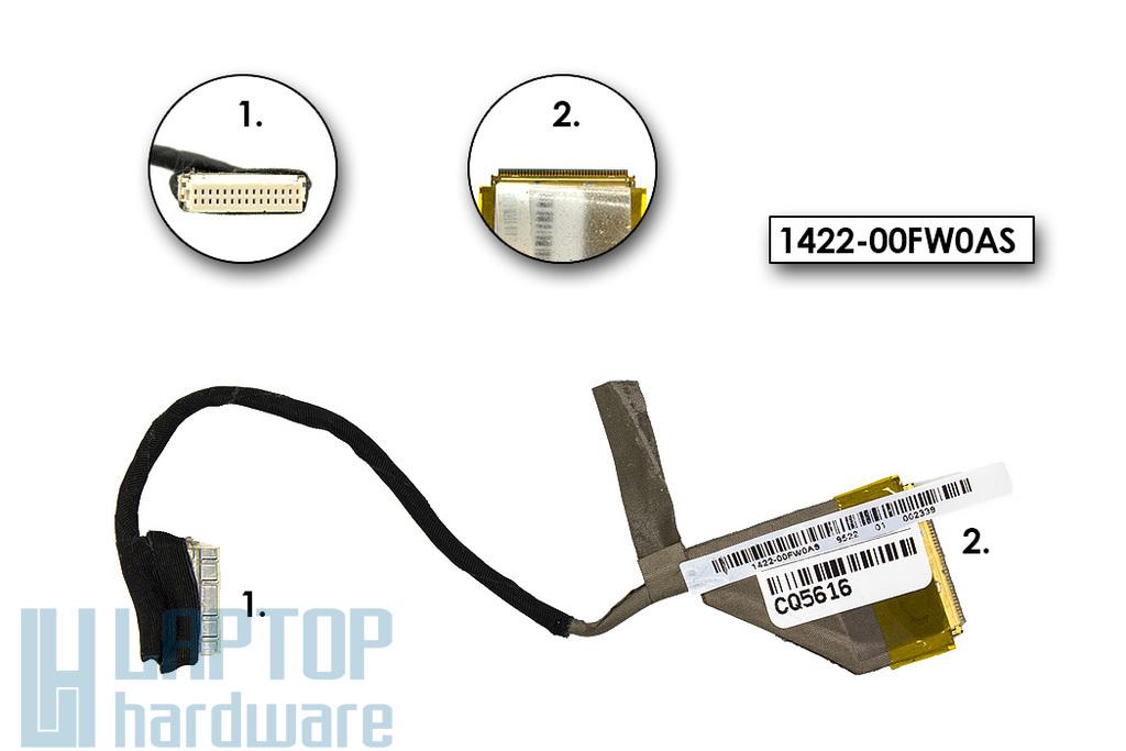 Asus K50AB, K50IJ használt laptop LCD kijelző kábel (1422-00G10A9, 1422-00FW0AS)
