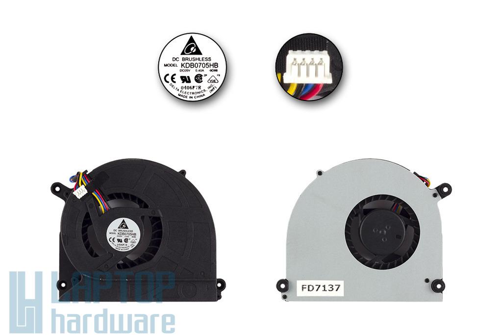 Asus K50C használt hűtő ventilátor (Delta KDB0705HB)