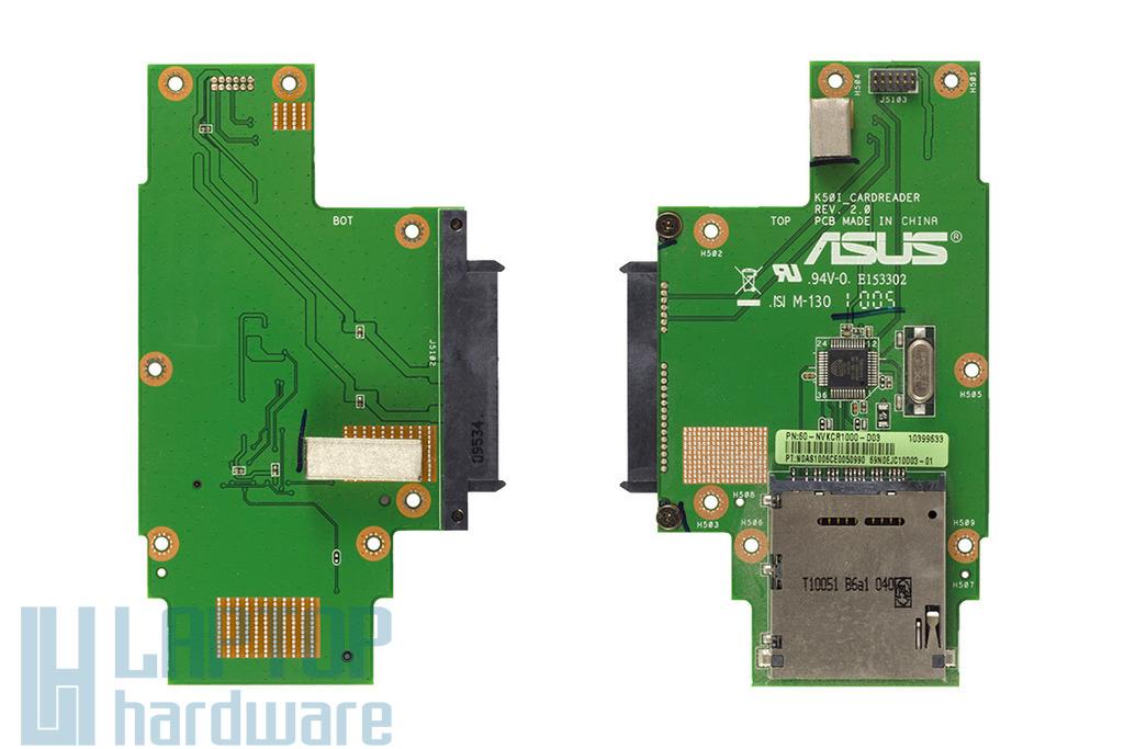 Asus K50IJ, K60 laptophoz használt SD kártya olvasó panel (60-NVKCR1000-D03)