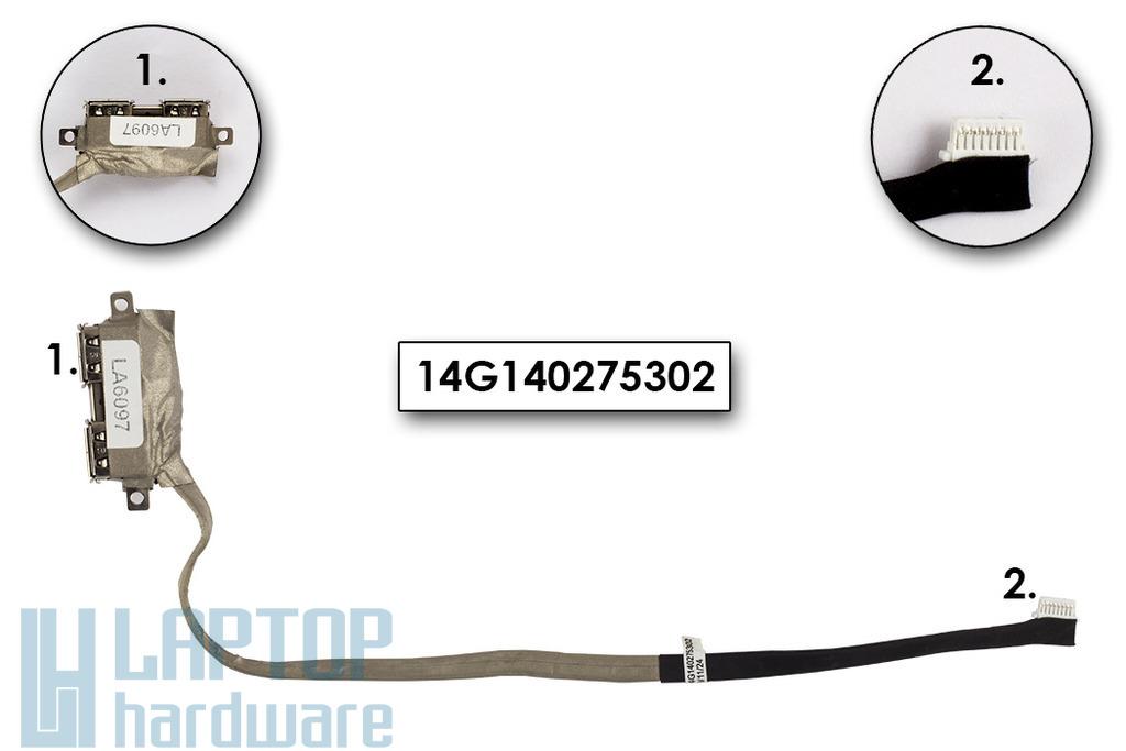 Asus K50IJ, K60 laptophoz használt USB panel és kábel (14G140275302)