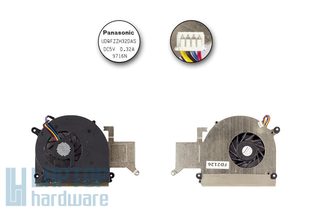 Asus K51AC laptophoz használt laptop hűtő ventilátor (UDQFZZH32DAS)