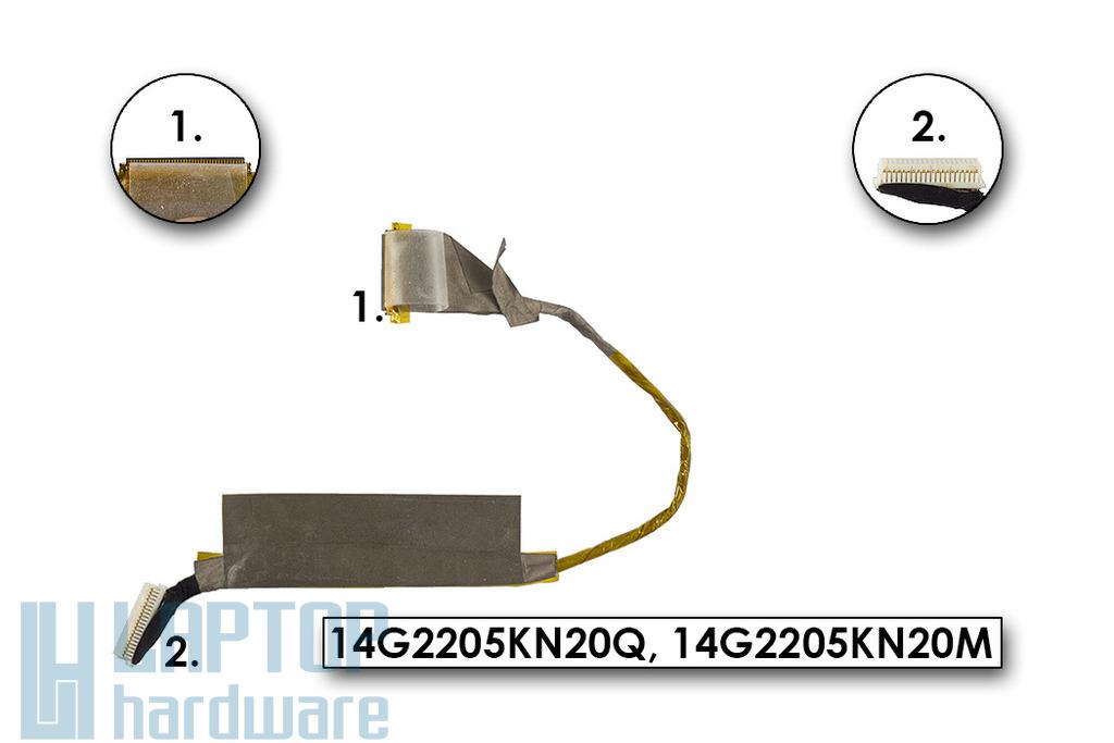 Asus K51AE laptophoz használt kijelző kábel (14G2205KN20Q)