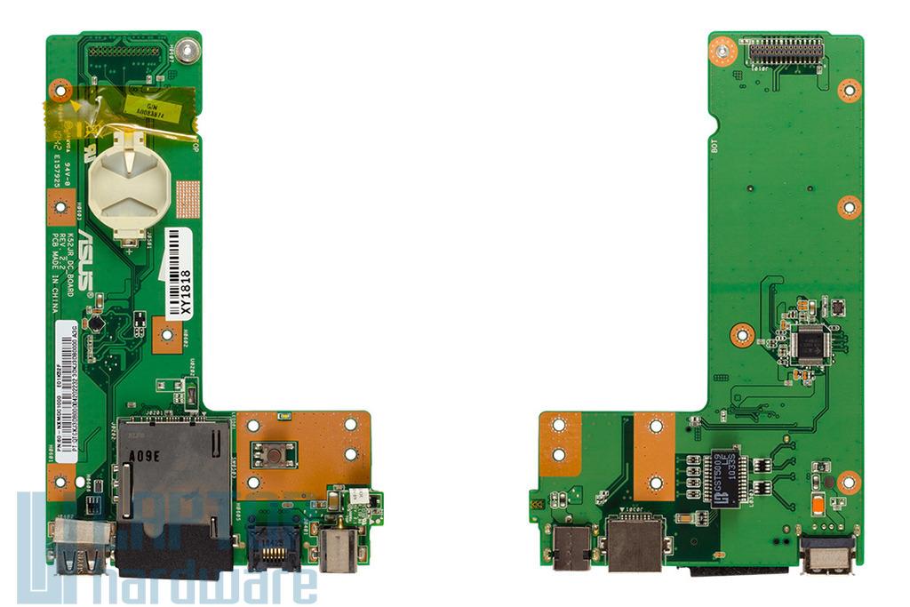 Asus K52 gyári új laptop DC/USB/LAN/KÁRTYOLVASÓ panel (60-NXMDC1000-E01, 60-NXMDC1000-C01)
