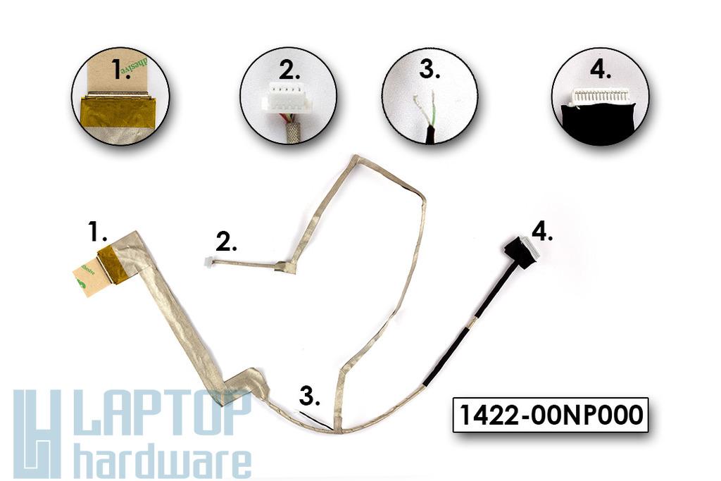Asus K52 laptophoz gyári új LCD kábel (LED) mikrofon nélkül, 1422-00NP000