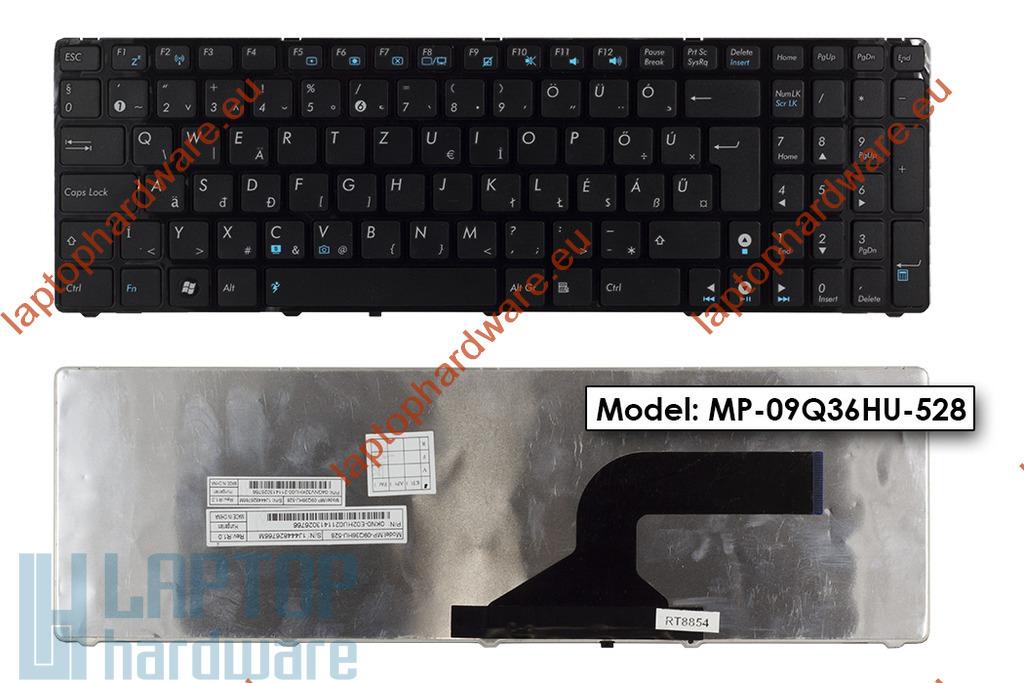 Asus K52DE, K72F, N61JV használt magyar laptop billentyűzet (04GNV32KHU00-2)