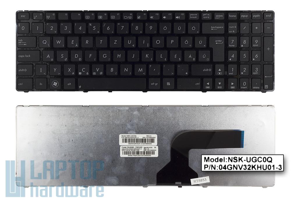 Asus K52F, K55N, X55A gyári új magyar laptop billentyűzet (04GNV32KHU01-3)