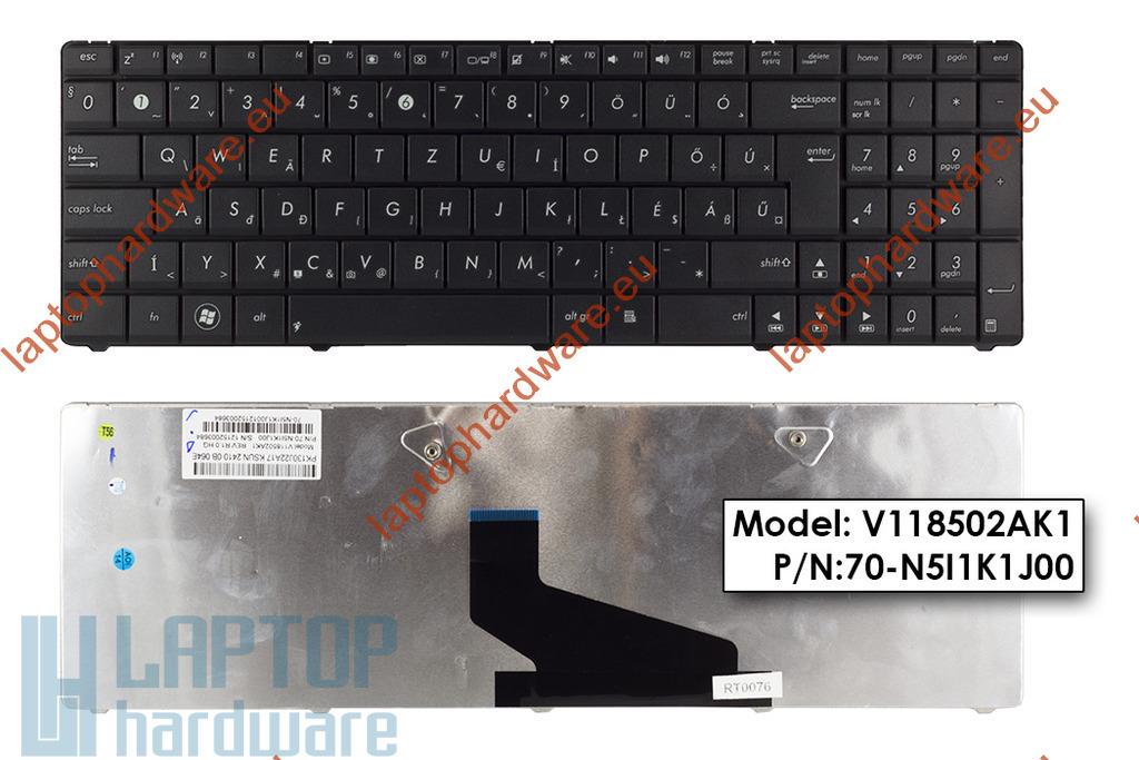 Asus K53BR, K73BR, X53 Wave használt magyar laptop billentyűzet, 04GN5I1KHU00-7