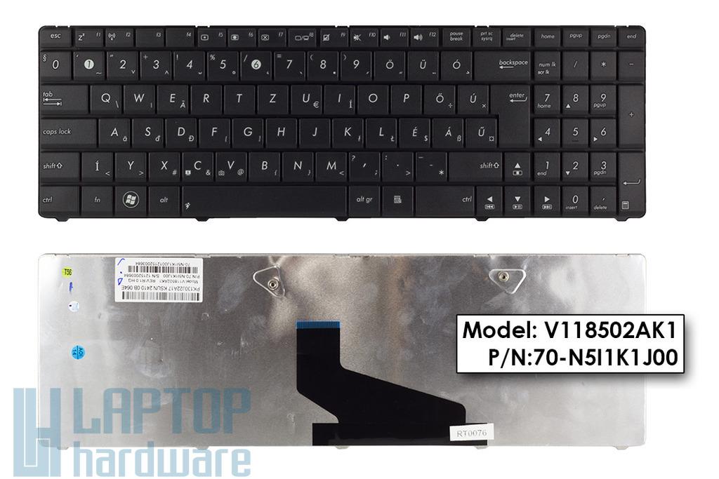 Asus K53BY, K53U, X53 Wave gyári új magyar laptop billentyűzet, 04GN5I1KHU00-7, 0KNB0-6244HU00