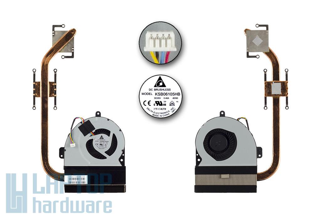 Asus K54HR, X54H laptophoz gyári új komplett hűtőegység (13GN9E1AM010-1)