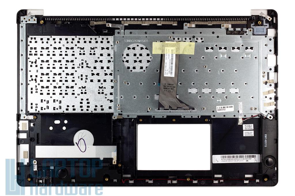 Asus K551, S551 gyári új magyar fém laptop billentyűzet modul, 90NB02A0-R30120