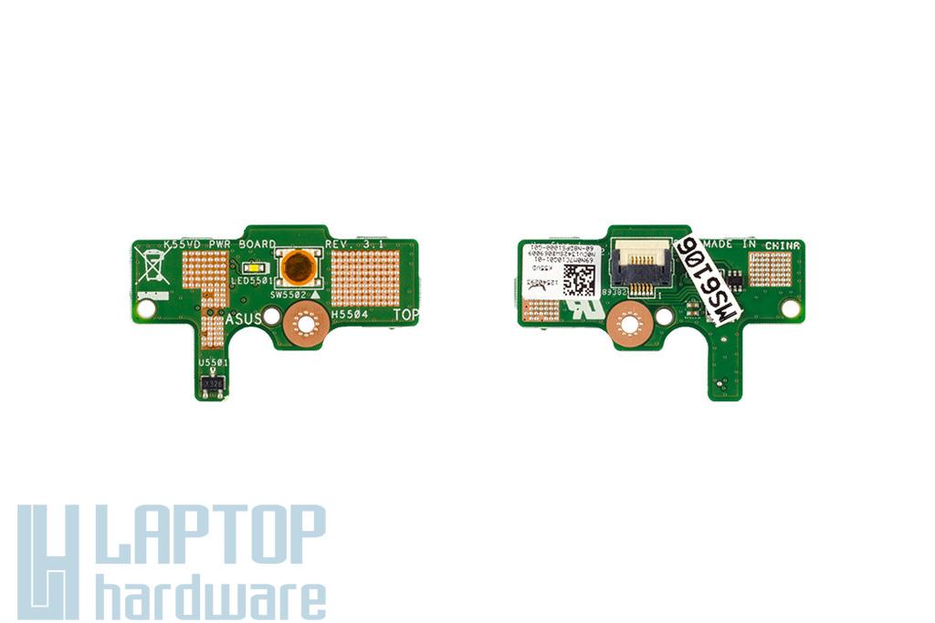 Asus K55A, K55VD gyári új laptop bekapcsoló panel (90R-N8DPS1000Y)