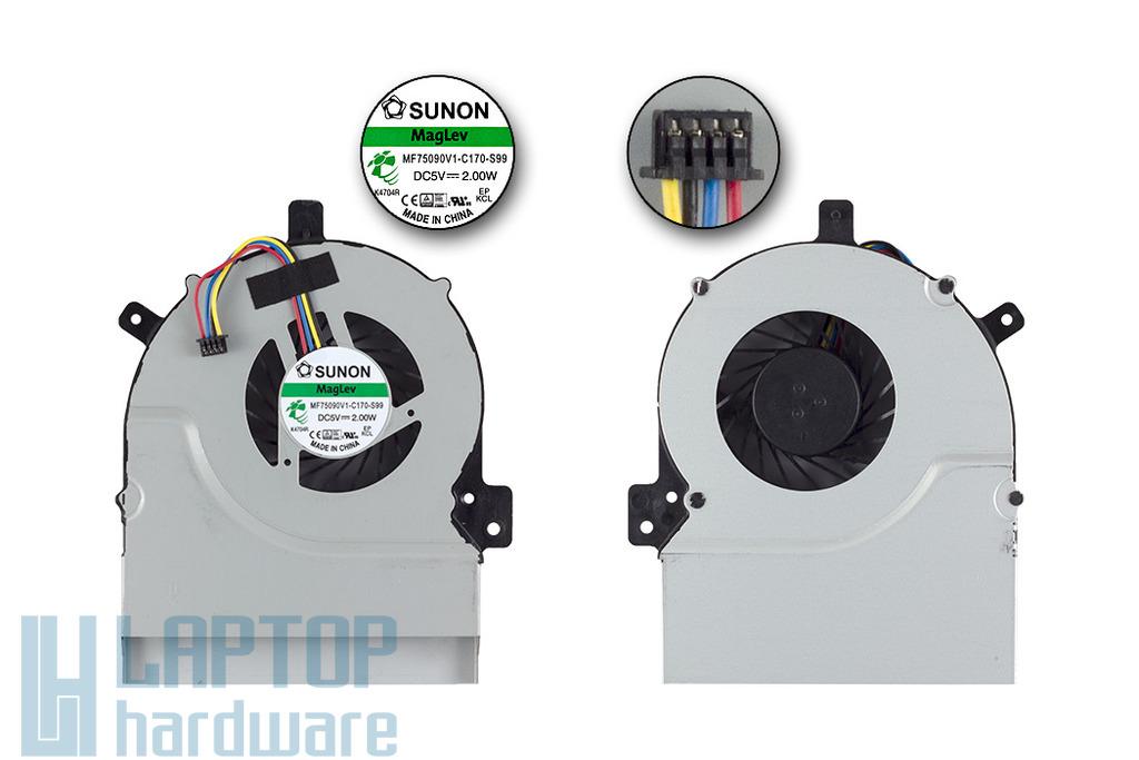 Asus K55A, K55VD, K55VM gyári új laptop hűtő ventilátor, 13GN8910P010-1