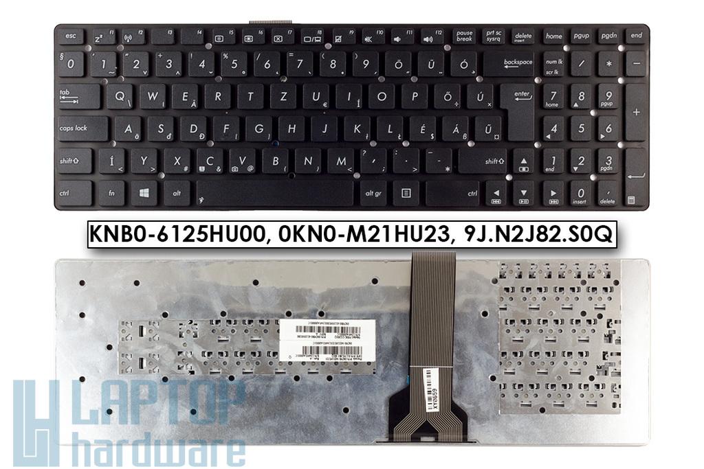 Asus K55A, K55VD, K55VM gyári új magyar fekete keret nélküli laptop billentyűzet (Win8) (0KNB0-6125HU00)