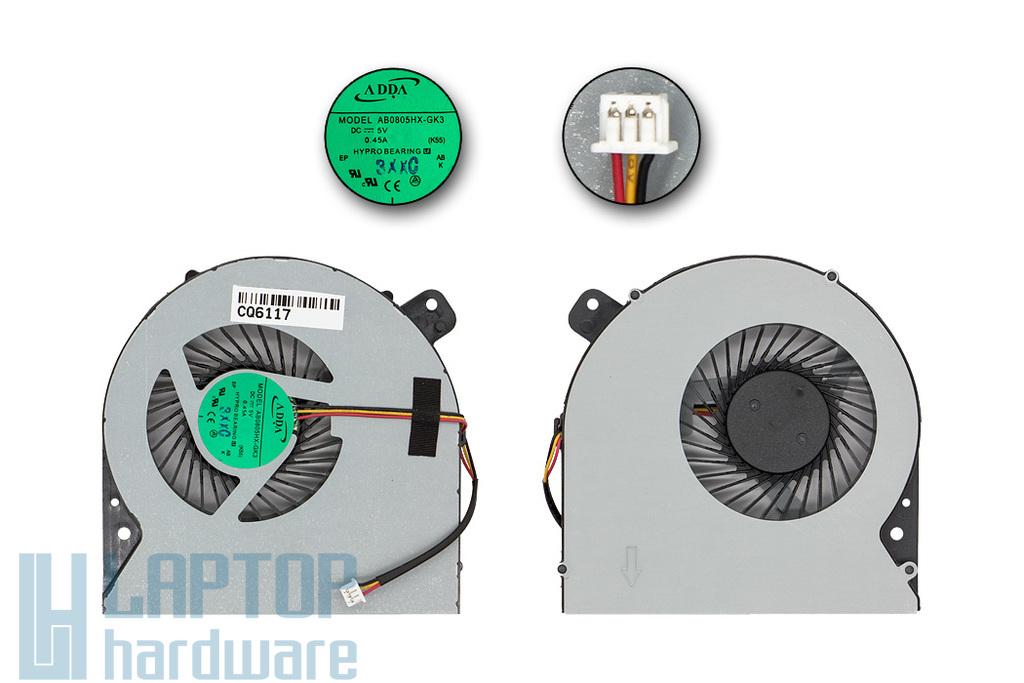 Asus K55DE, K55DR gyári új laptop hűtő ventilátor (AB0805HX-GK3 K55)