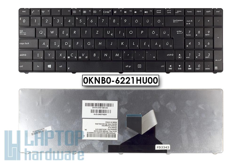 Asus K55DR, X55C, X75VD Wave gyári új magyar fekete laptop billentyűzet (0KNB0-6221HU00)
