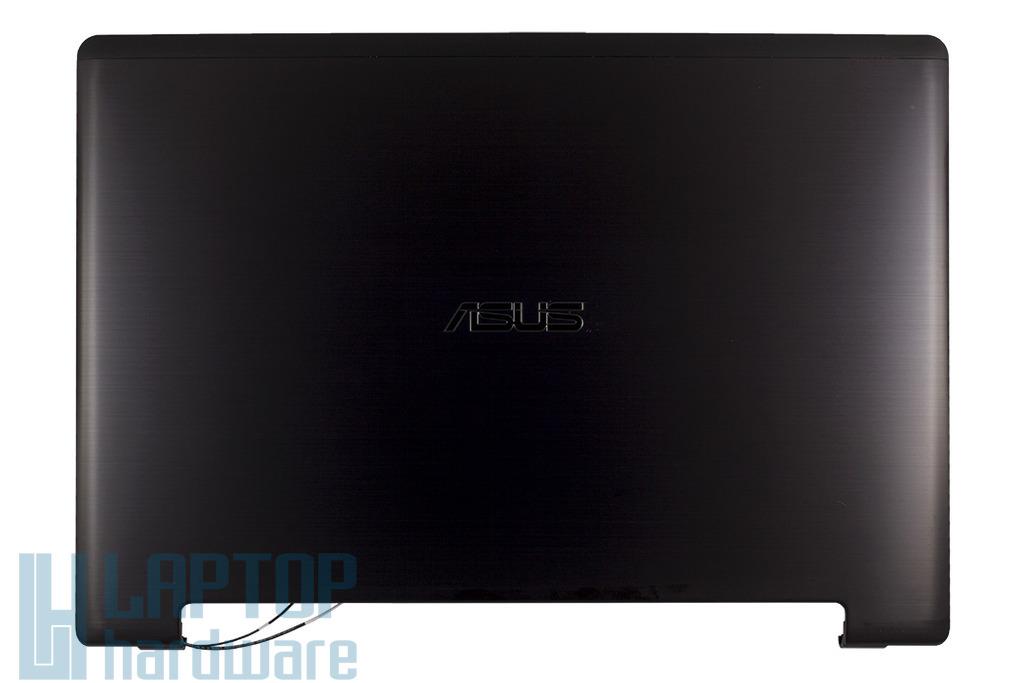 Asus K56CM, K56CB, K56CA laptophoz gyári új LCD hátlap WiFi antennával és zsanér párral, fekete, 13GNUH1AM022-1