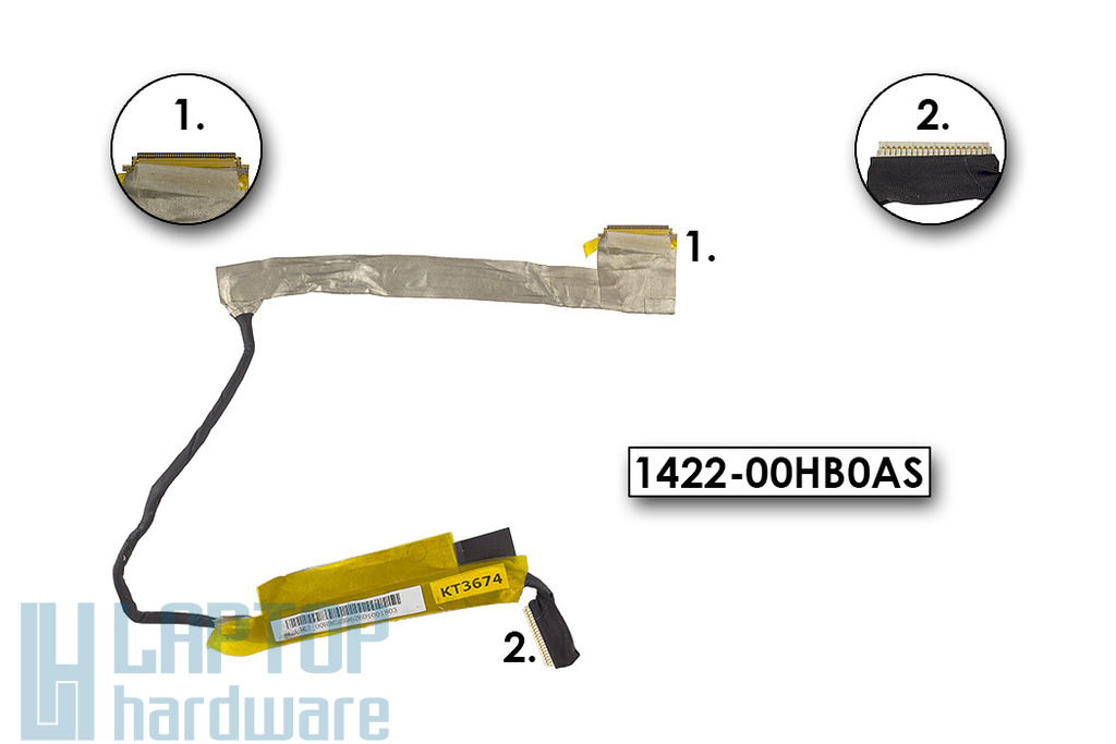 Asus K70 laptophoz használt LCD kijelző kábel,1422-00HB0AS
