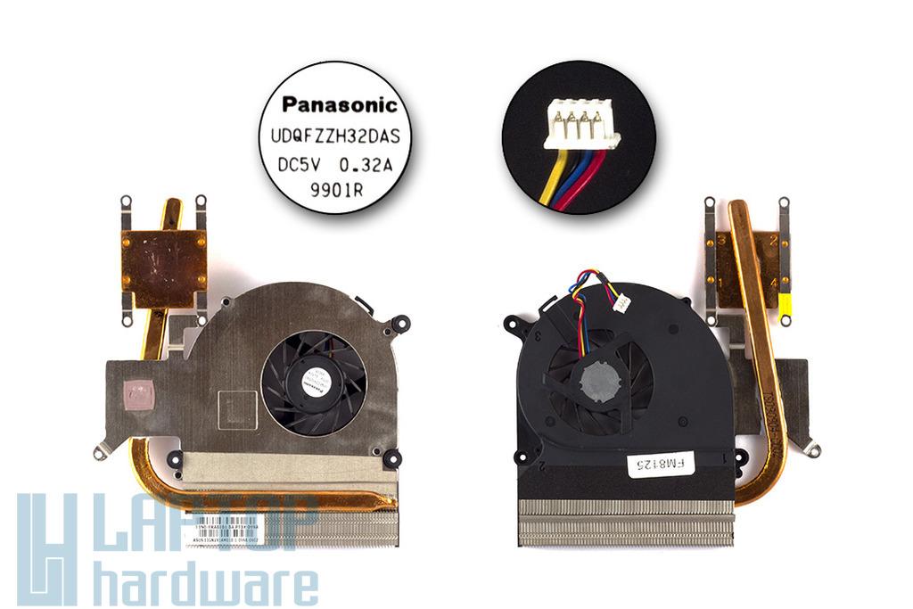 Asus K50AB, K50AD használt komplett laptop hűtő ventilátor egység (UDQFZZH32DAS)
